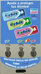 3 Monedeor indepenidente maquina chicle ORBIT