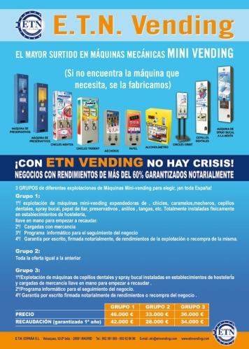 Explotaciones minivending. RENTABILIDAD GARANTIZADA NOTARIALMENTE!!