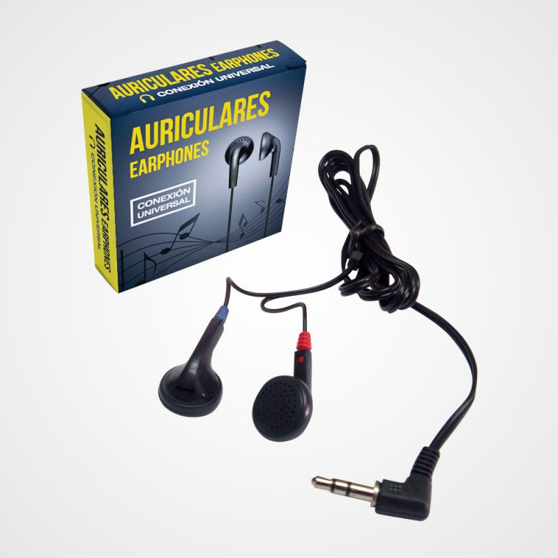 Auriculares stereo estuchados para vending