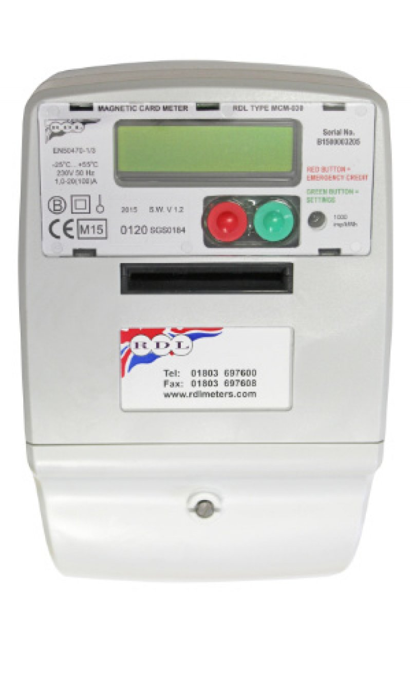 Contador de luz prepago por tarjetas magnéticas desechables