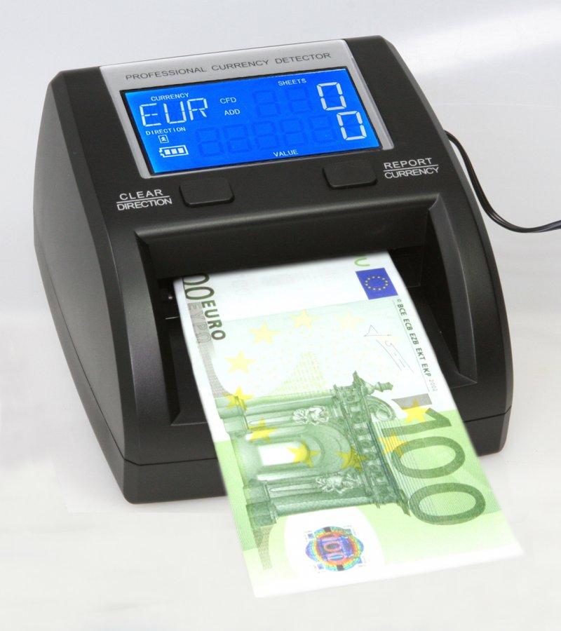 Detectores de billetes con bateria.