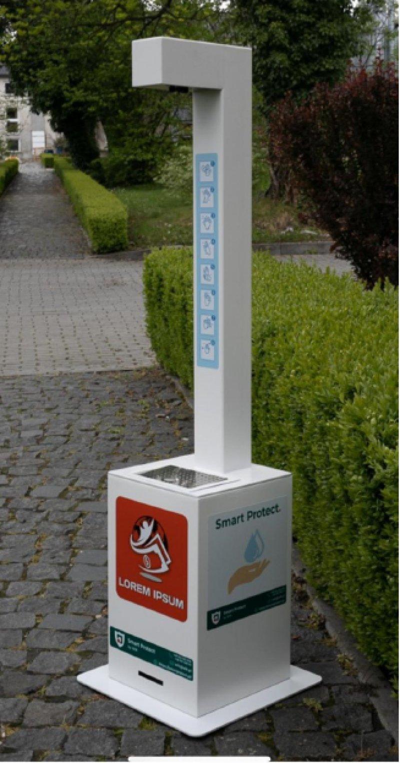 Dispensador de gel desinfectante sin toque modelo DP2.