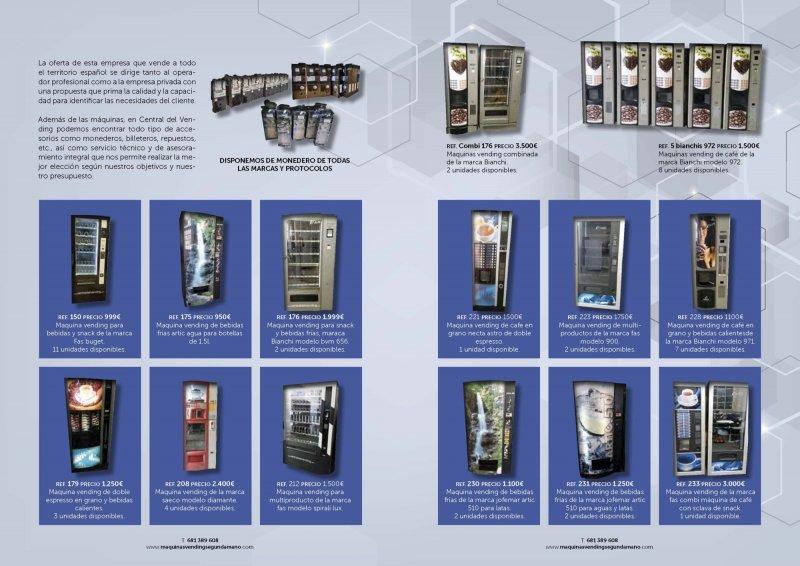 Disponemos de una Gran seleccion de maquinas vending
