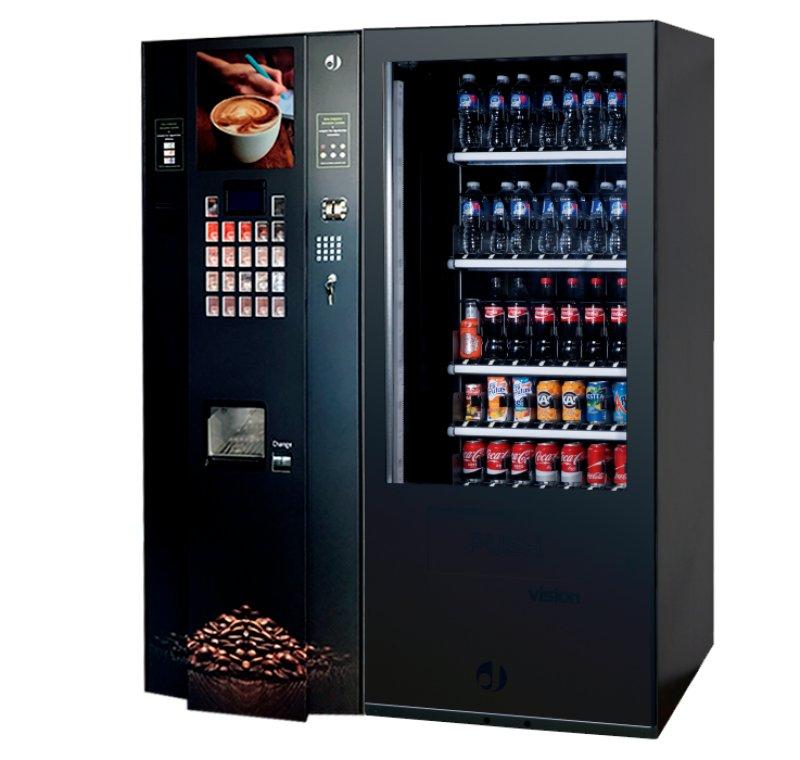 Máquina de café + Snacks y refrescos por 132 EUR/MES