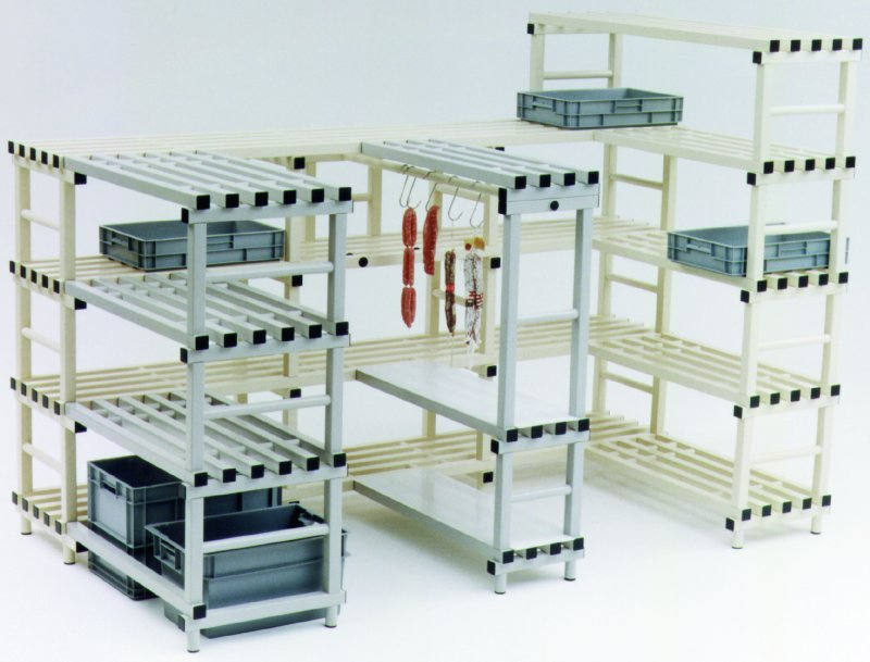 Estanterias modulares de plástico