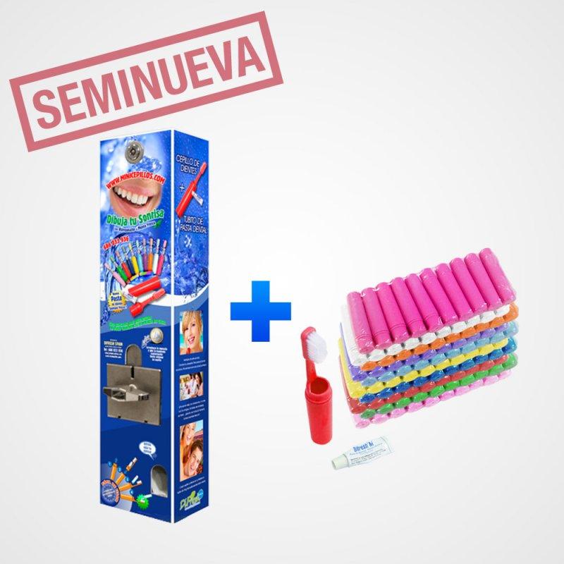 Expendedora seminueva cargada con 65 cepillos dentales
