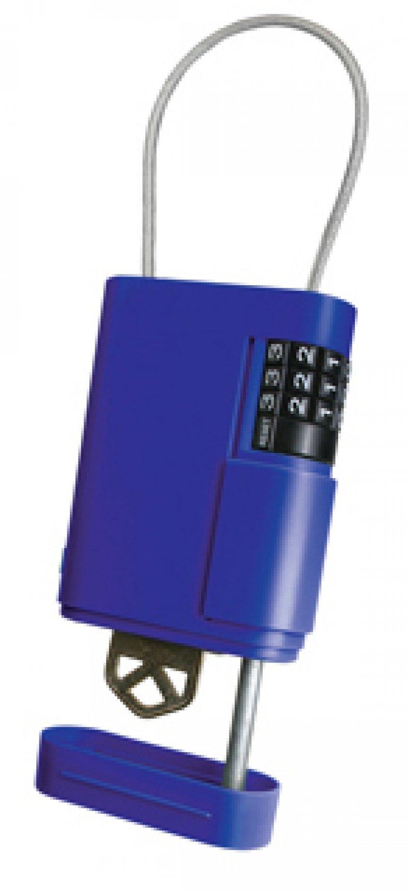 Guarda llave de plástico con cable de fijación por combinación. Kidde Portable Stor-a-key