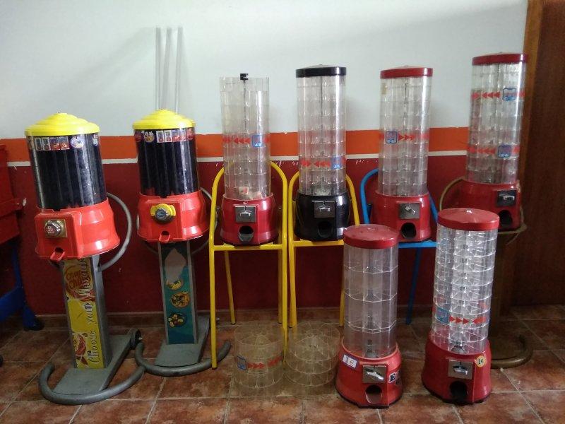 Lote maquinas frutos secos y ChupaChups