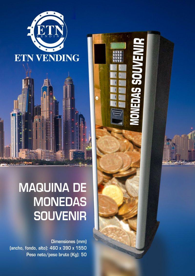 MAQUINA EXPENDEDORA DE MONEDAS SOUVENIR