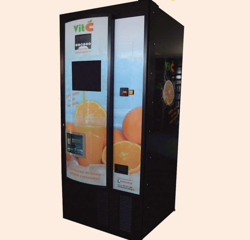 Maquina expendedora de zumo natural