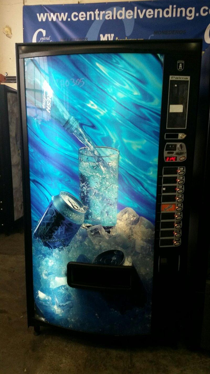 maquina vending azkoyen palma B9 para aguas y latas