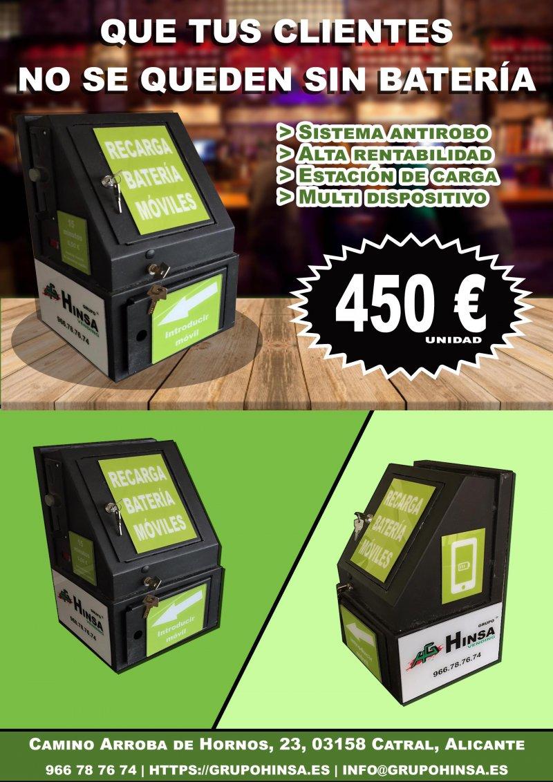 Máquina Vending carga batería móviles (tambien en lotes)