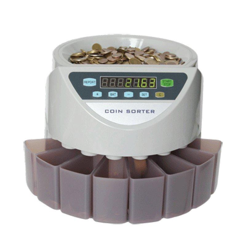 Maquinas de contar clasificar y validar monedas.