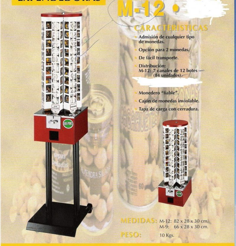 Maquinas Expendedoras de Frutos Secos M-12
