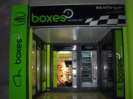 TIENDAS 24 HORAS DE INTERIOR BOXES