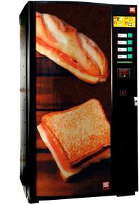 Maquinas de snacks,sandwichs y bocadillos.