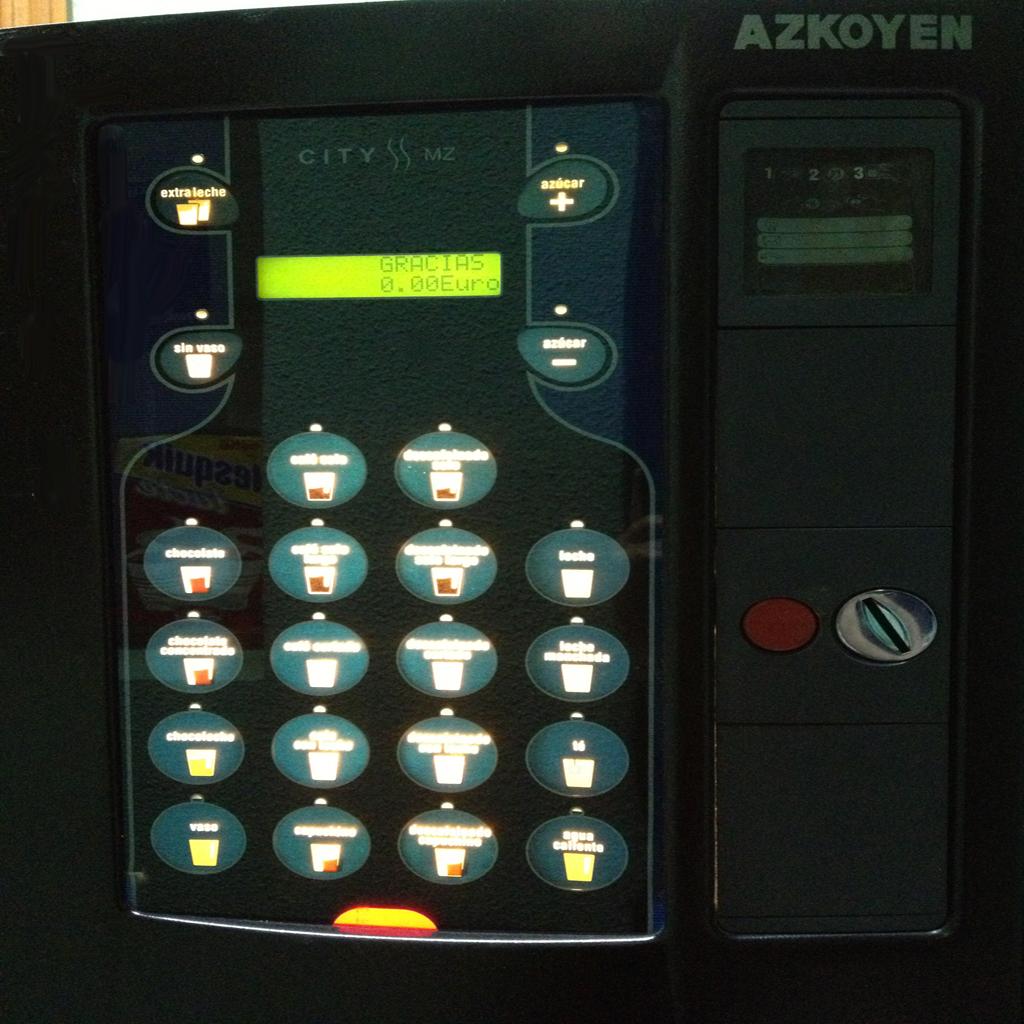Máquina de cafe en grano expreso de Azkoyen CITY MZE.