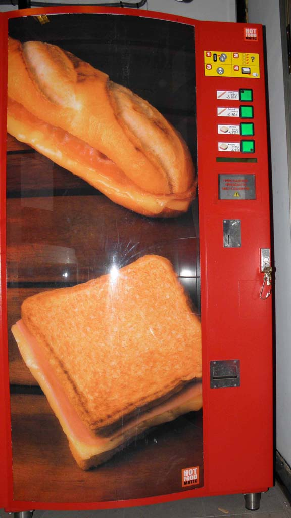 Máquina Expendedora  sándwiches, pizzas y bocadillos tostados y calientes Hotfoodmatic MXT