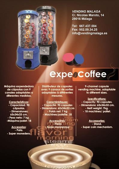 Expendedora de capsulas de caf con monedero mercavending for Maquinas expendedoras de cafe para oficinas