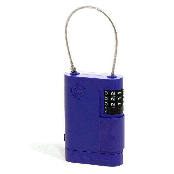 Caja guarda-llave de plástico con cable de acero ajustable y cerradura de combinación