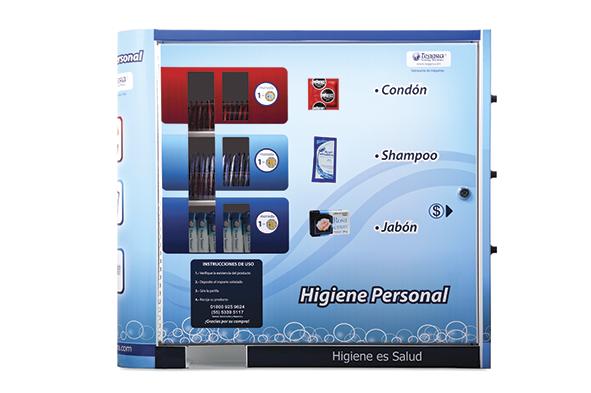 Maquina Vending de Artículos de Higiene modelo