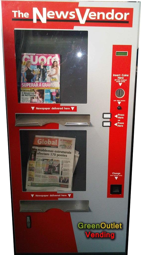 Dispensador automático de periódicos, estrictamente nuevo