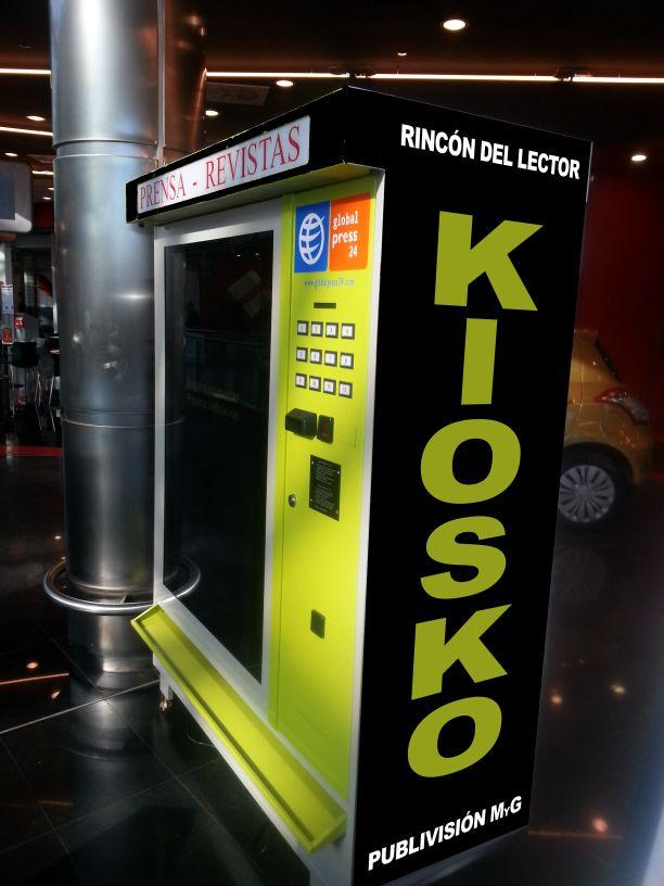 Maquina de vending PRENSA, REVISTAS y PUBLICIDAD