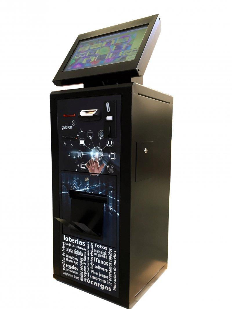 Rentable maquina de loterias, recargas, contenidos digitales, regalos....