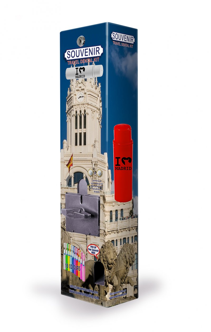 Souvenirs Turistas Madrid - Expendedora Vending - Expositores Sobremesa