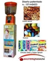 Expendedora MULTI-PRODUCTO, Chicles Orbit y Trident Splash y frutos secos ó dulces en la misma máqui