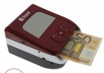 Detector de billetes falsos Euro, actualizable.
