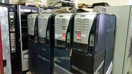 Lote 4 maquinas vending de cafe en grano saeco 200
