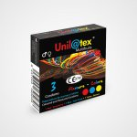 Nuevo Unilatex multifrutas, preservativo en estuche de 3 ud.