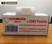 Paletinas de cafè 105 mm para maquinas expendedora Vending