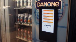 Pantalla interactiva información nutricional en máquinas vending
